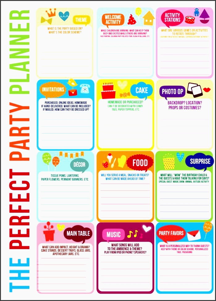 master party planning template karaspartyideas