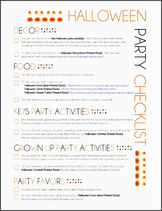 my printable halloween party planning guide