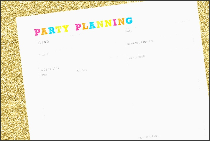free party planning checklist 505 design