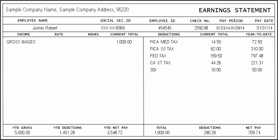 wonderful pay stub format u2013 a free pay stub template with