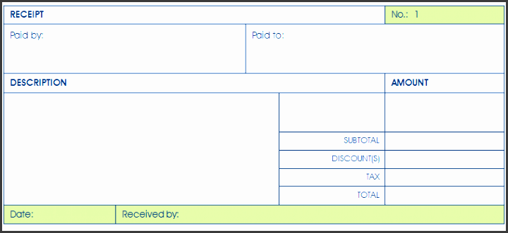 printable payment receipt template for word