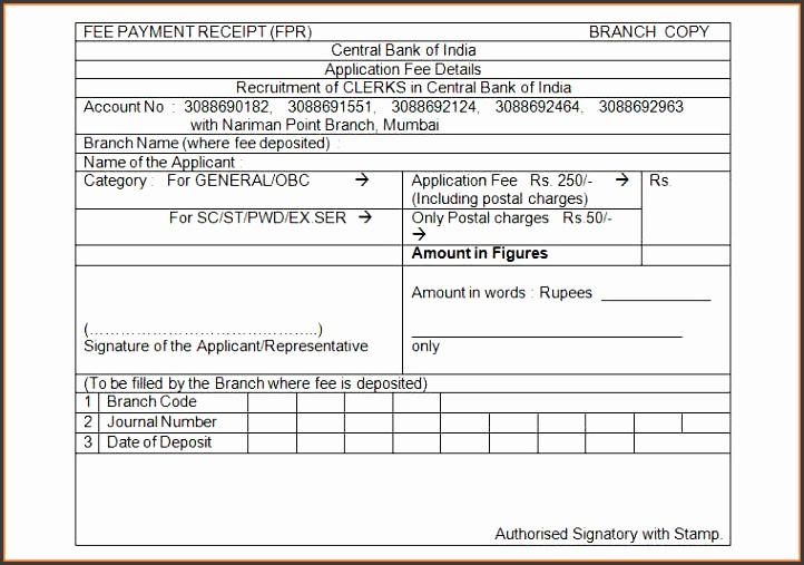 receipt for payment central bank payment receipt template receipt