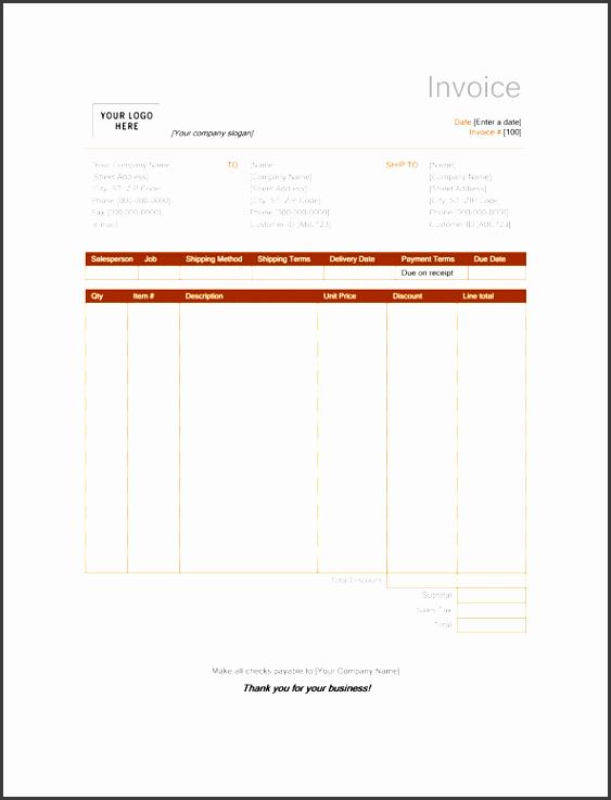 sales invoice rust design