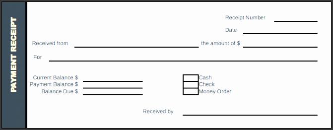 payment receipt excel format
