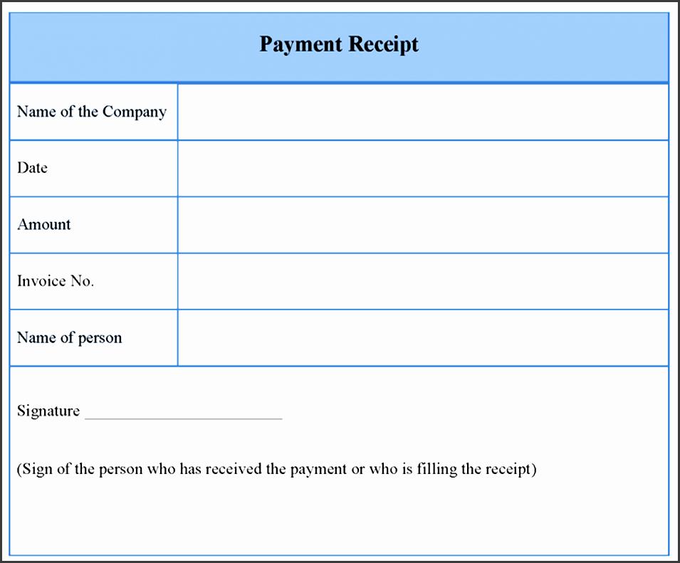 receipt of payment blank payment receipt template payment receipt