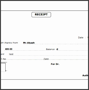 payment or cash receipt template sample a part of under business templates
