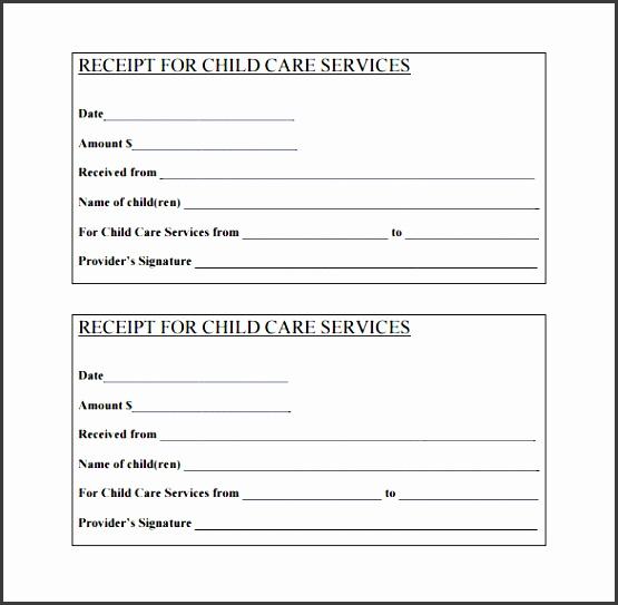 day care services receipt pdf