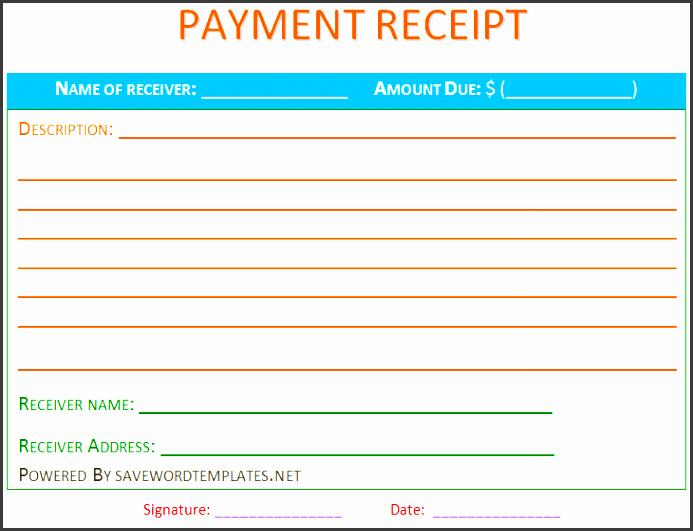 payment receipt template new calendar template site