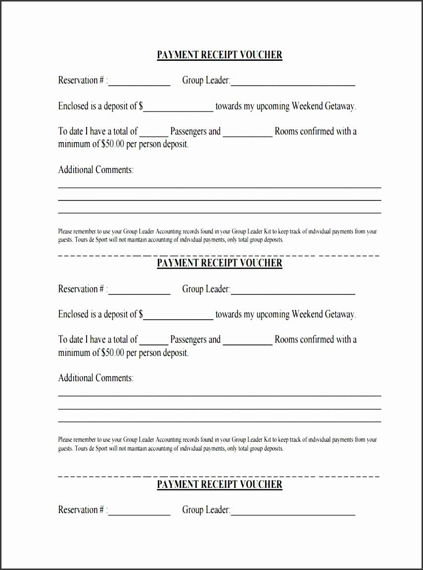payment receipt sample voucher