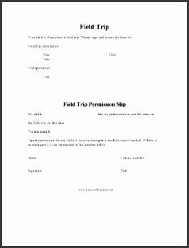 field trip permission slip teachers printable