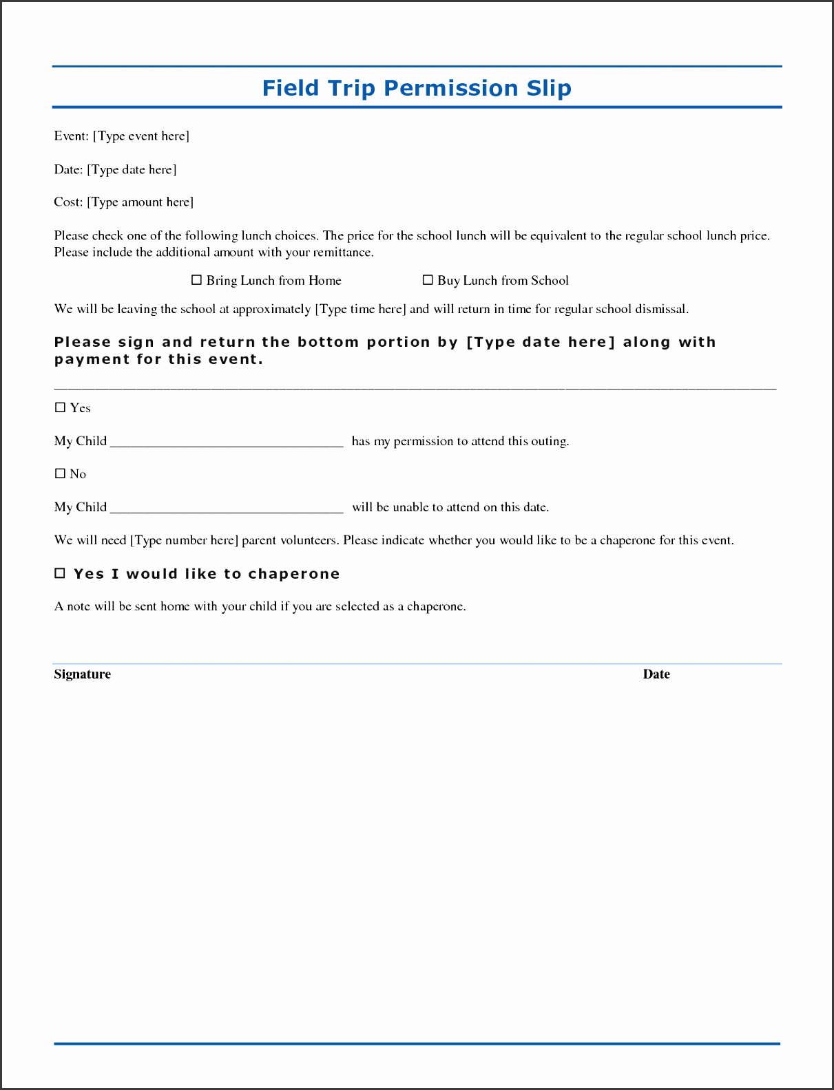 permission slip free word template 2q6rhh8b