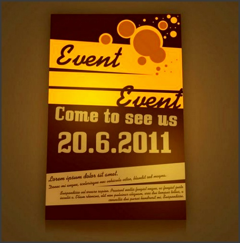 retro style event flyer psd