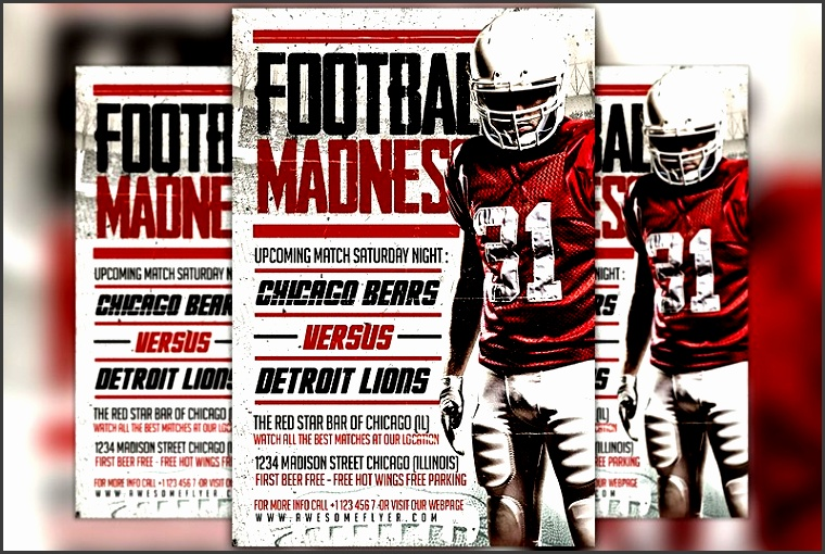 football madness flyer template by flyermind on creativemarket