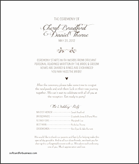 Catholic Wedding Invitation Template Beautiful Catholic Wedding Program Template  Microsoft Word Wedding