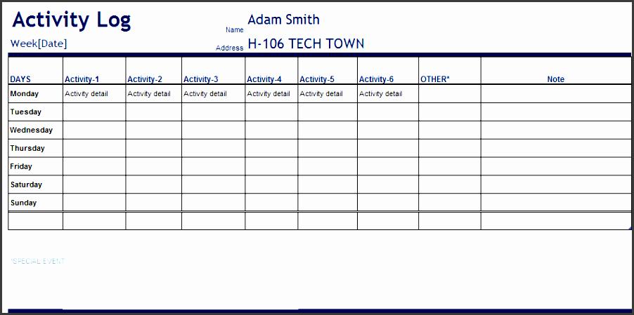 4  personal phone log template - sampletemplatess