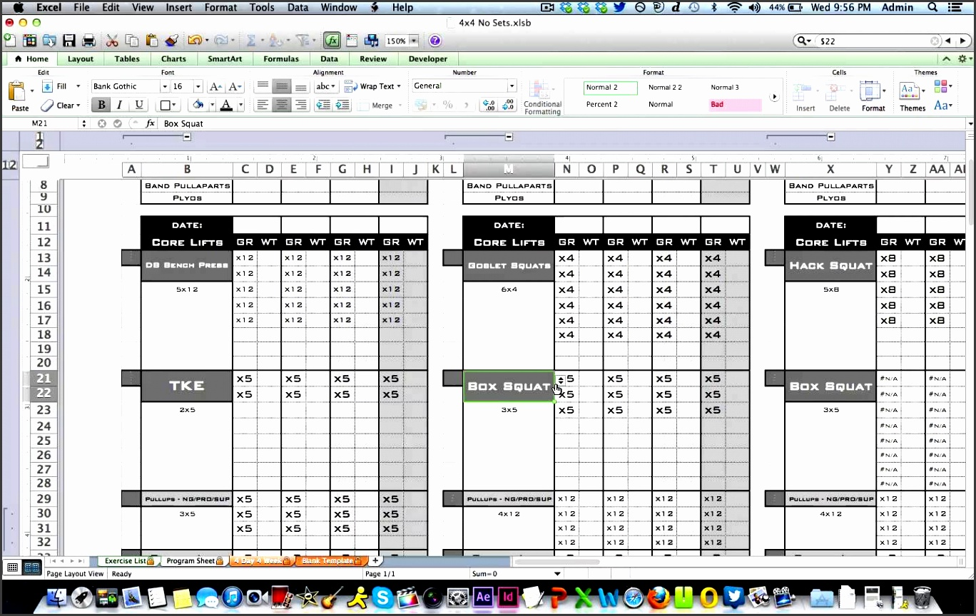 Free workout log template excel blog dandk for Training journal template