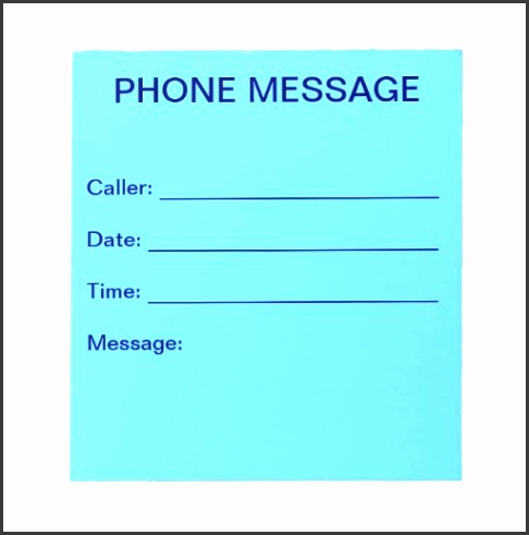 phone message form template