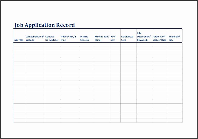 job log template