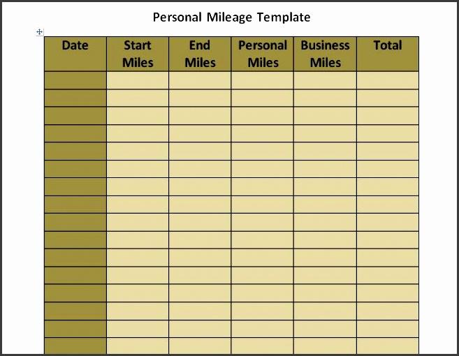 printable mileage log template 11