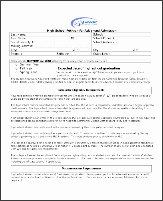 school petition template free