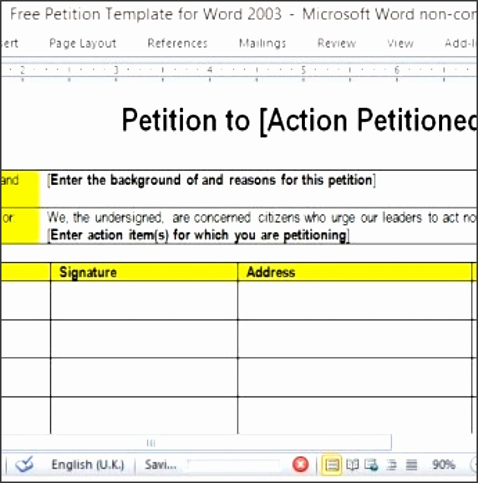11 petition template in word sampletemplatess for Templates for petitions