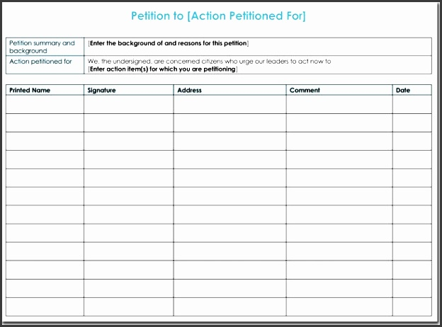 Petition Template In Word  Sampletemplatess  Sampletemplatess