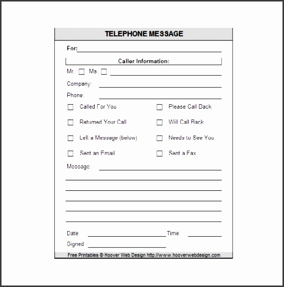 9 phone message templates free for word excel pdf examples