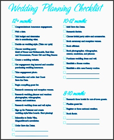 wedding planning checklist sample in pdf 8 examples in pdf