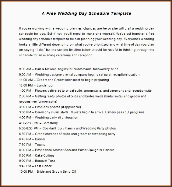wedding schedule template wedding checklist planning timeline template wedding