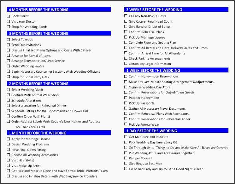 wedding checklist blue inside