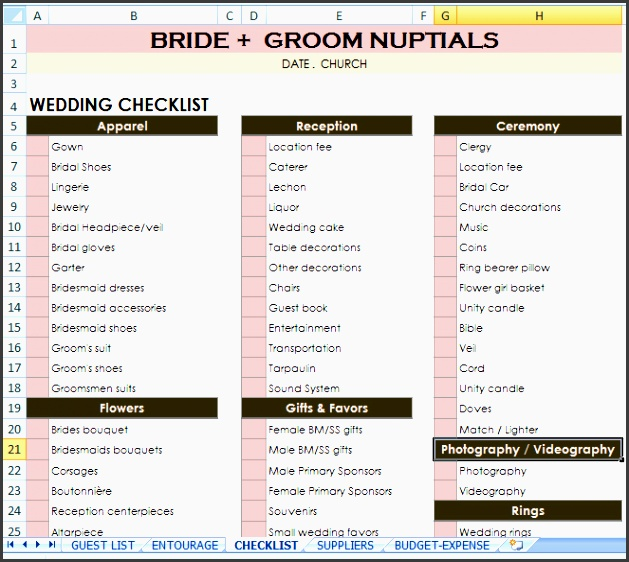 10 planning a wedding checklist format sampletemplatess wedding checklist excel wedding checklist excel junglespirit Image collections