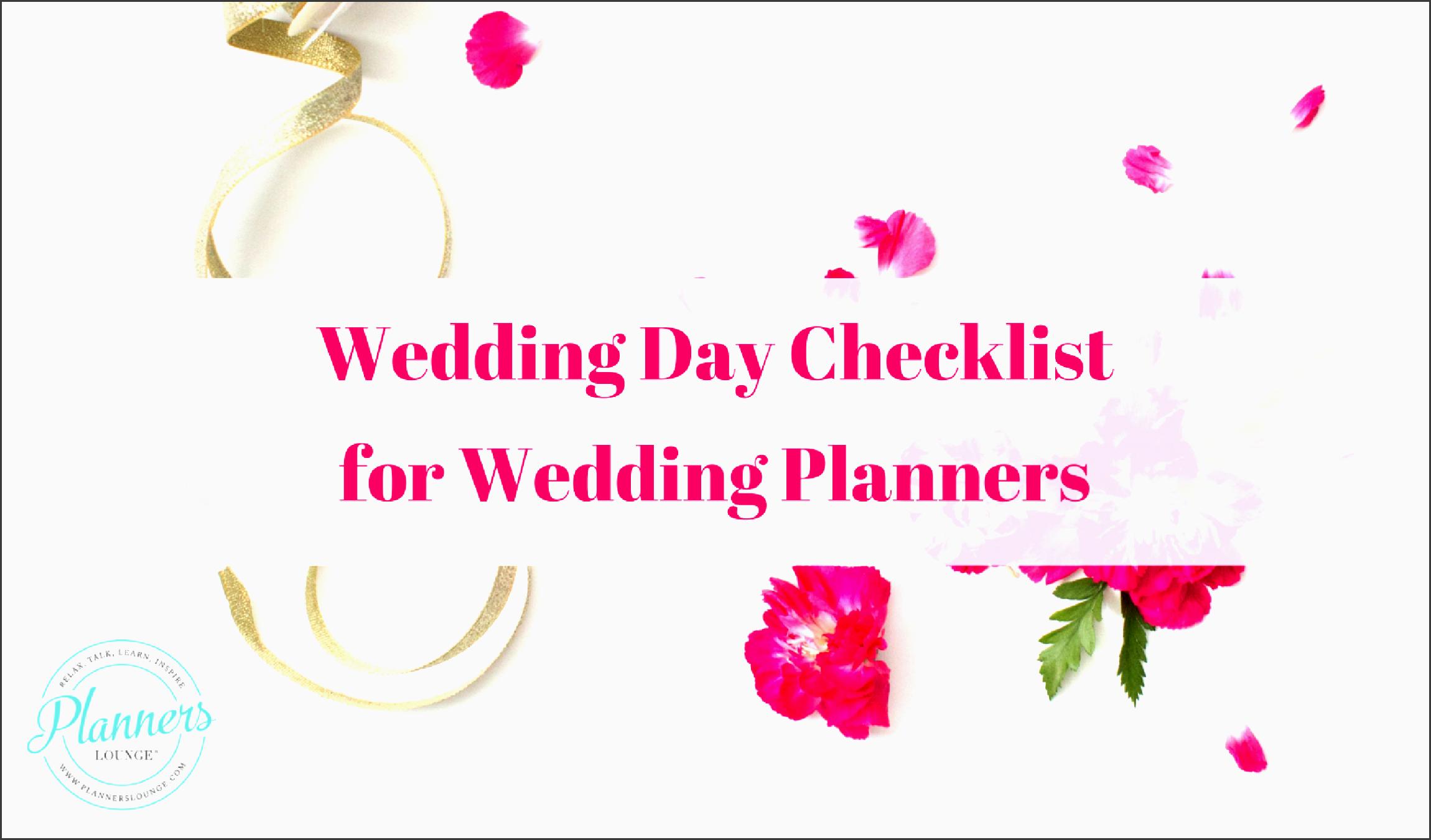 checklist wedding day