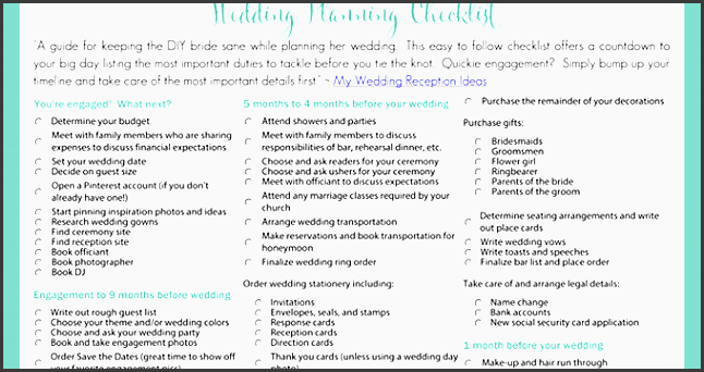 wedding checklist 1