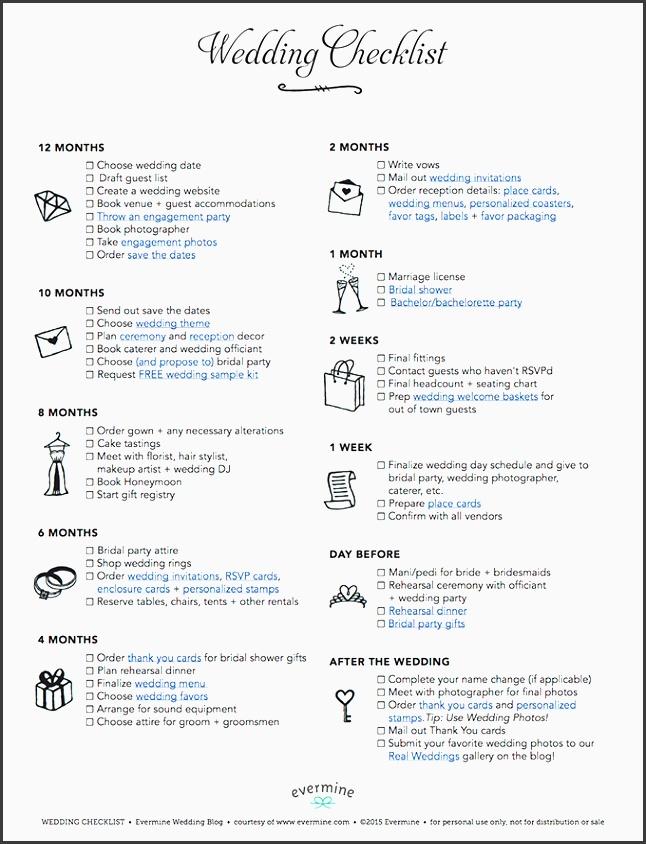 wedding checklist evermine weddings