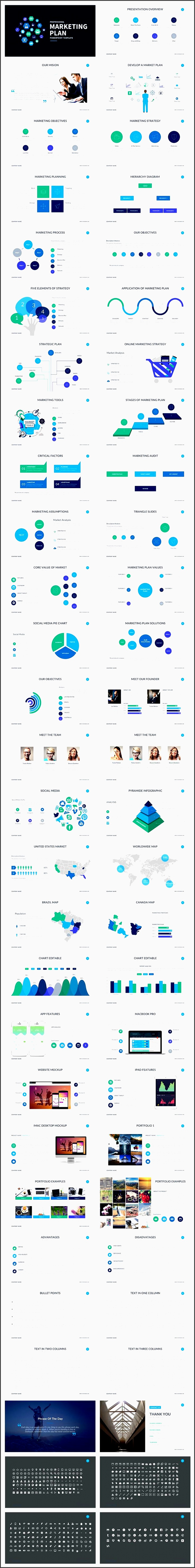 marketing plan powerpoint template by slidepro on creativemarket