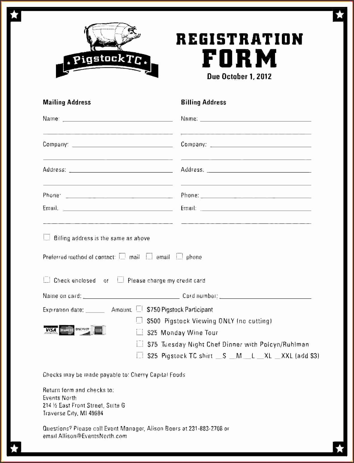 registration form template pigstockt printable registration form template form full