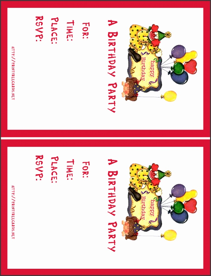 free printable birthday invitation cards templates invited greeting to join party with design card its a
