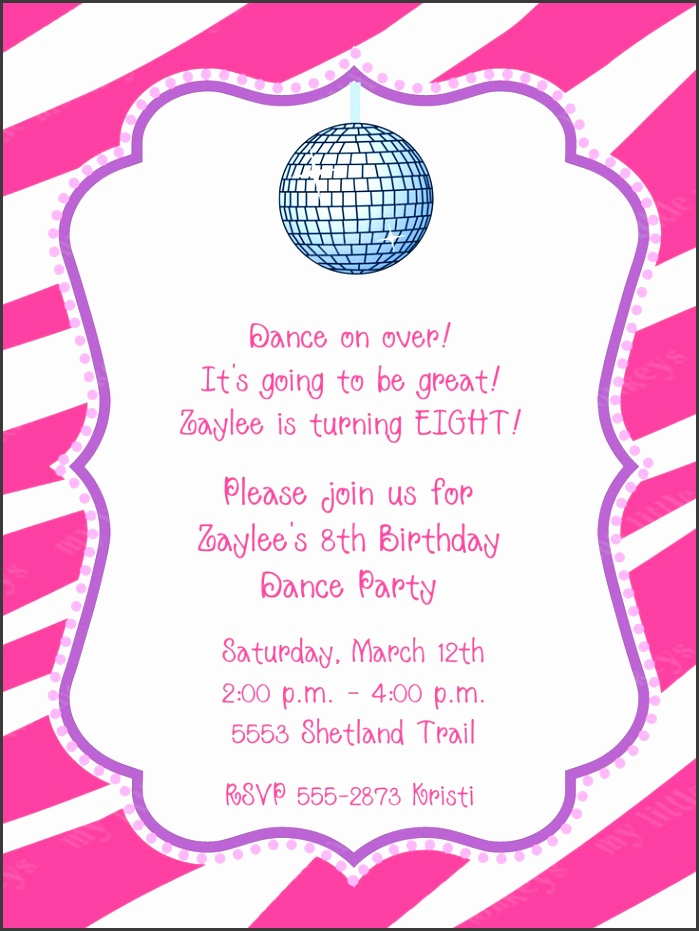 birthday party invitations free 10 dance disco invitation with envelopes free return address labels 7 99 pink