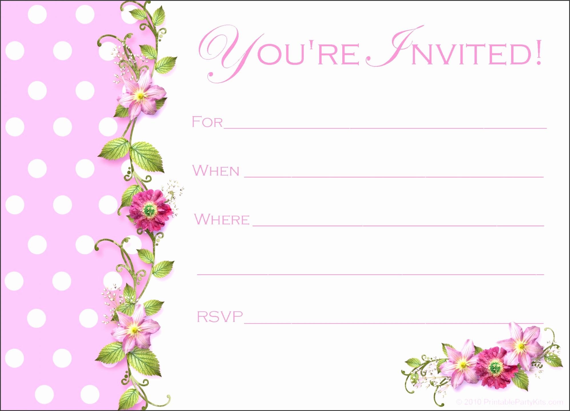 free printable birthday invitation templates home gt business birthday invitations