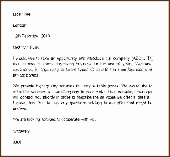 introduction business letter sample business introduction letter