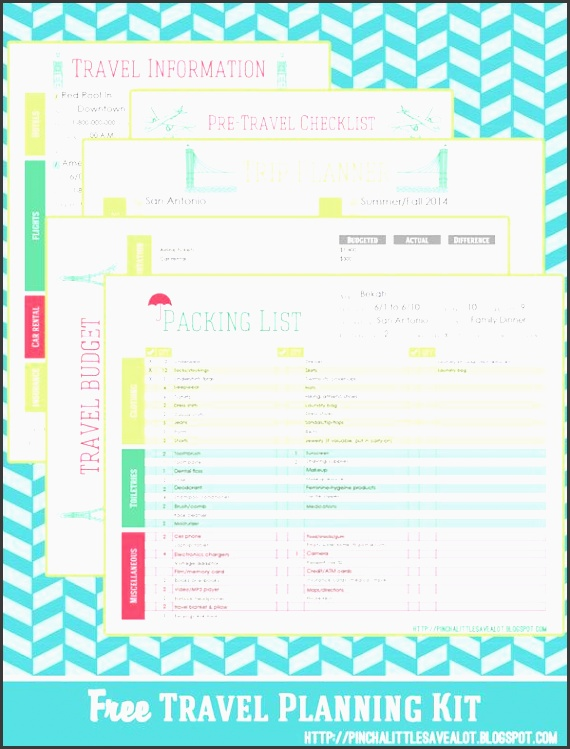 pinch a little save a lot printables free travel printables vacation checklists
