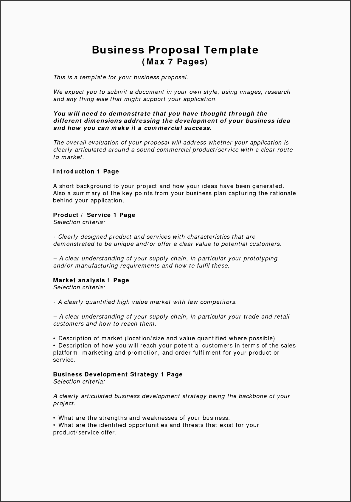 proposal business travel proposal template