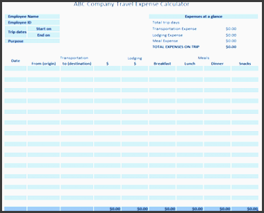 business trip planner template via free business expense template