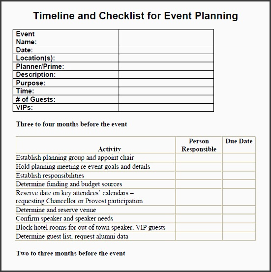free event planning templates - 7 printable conference planning checklist