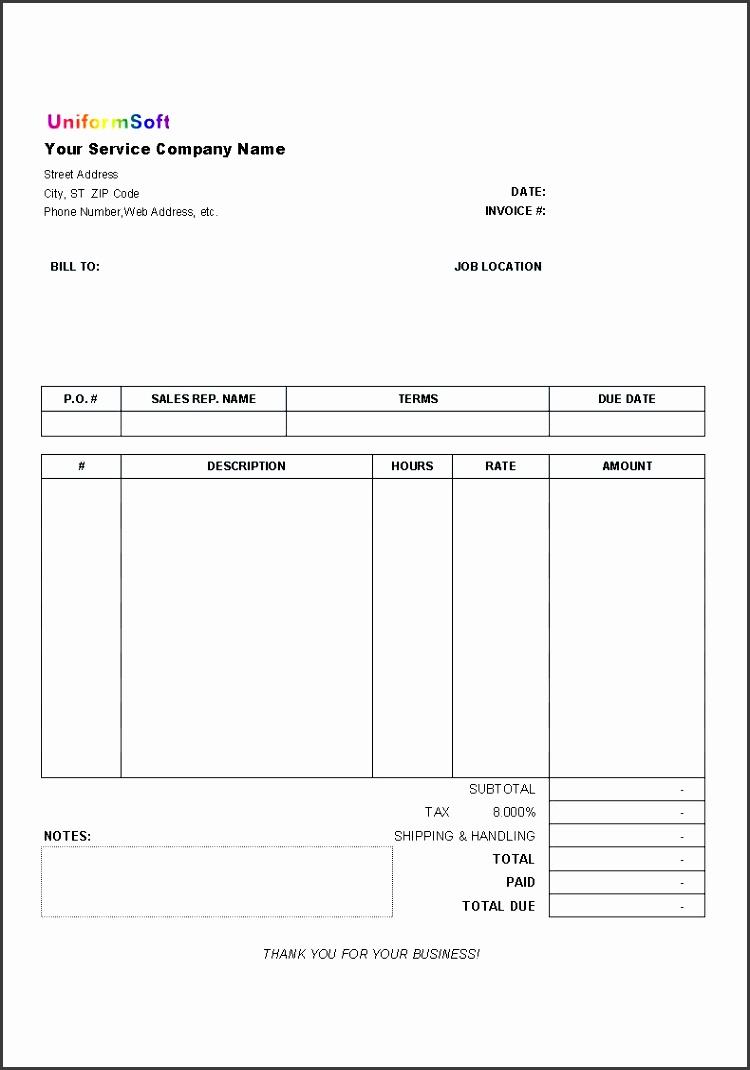 printable invoice form free invoice