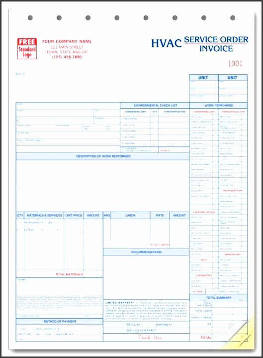 hvac service order invoice template ikujyhhj