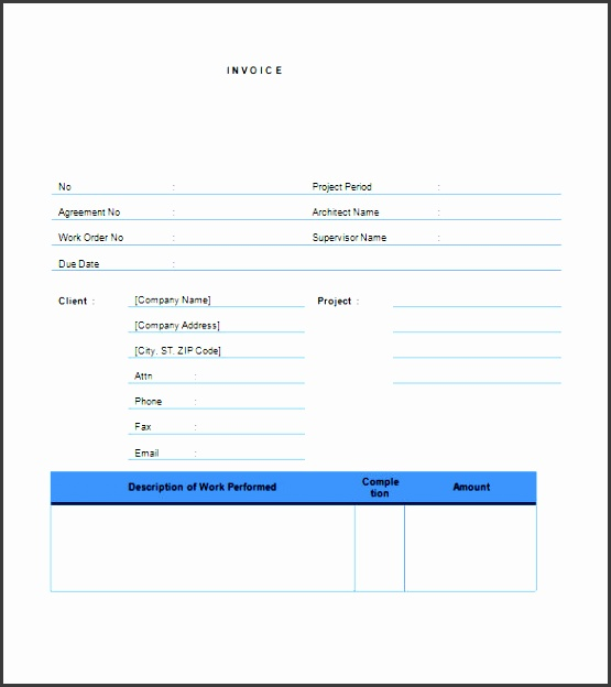 printable contractor invoice template word