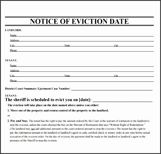 sample eviction notice template 37 free documents in pdf word throughout printable eviction
