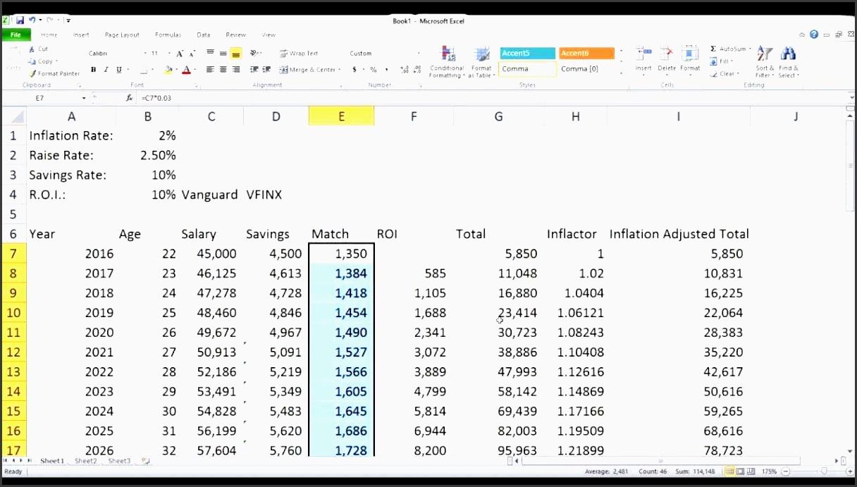 excel retirement planning and retirement planner calculator excel