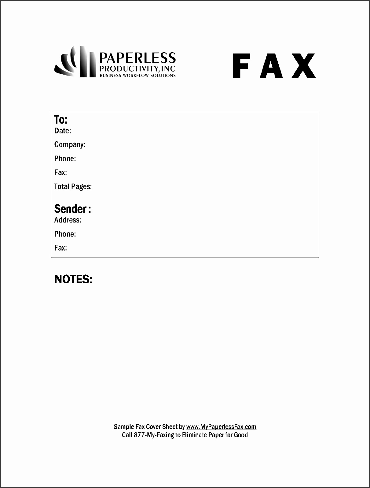 10 Printable Free Fax Cover Sheet Template ...